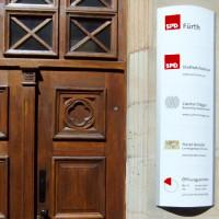 Eingangsbereich zur Geschäftsstelle in Fürth